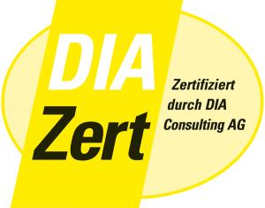 DIAzert Logo Zertifizierung