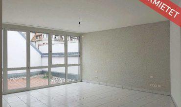 Helle 2-Zimmer Wohnung mit Terrasse und Blick auf die Fußgängerzone in zentraler Innenstadtlage